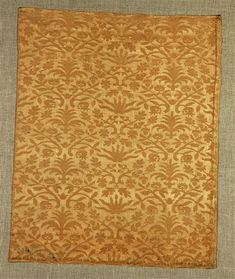 Late 1500's Italian: Silk Damask fabric