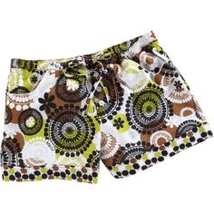 Vera Bradley PJ Shorts in Cocoa Moss ($11) ❤ liked on Polyvore featuring intimates, sleepwear, pajamas, shorts, cocoa moss, underwear, online clearance, sale, cotton pajamas and vera bradley
