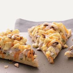 Sausage & Egg Breakfast Pizza Recipe from Taste of Home -- A filling breakfast or supper. Julie Tucker - Columbus, Nebraska
