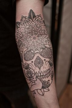 skull and petals