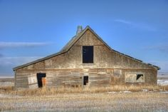 Canadian Pacific Railway Barn.  The CPR agreed to build settlers a barn if they would come out west to homestead. The railway built the by francisca
