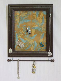 Brown Framed Jewelry Organizer