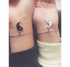 Ying to my yang bestfriend matching bracelets