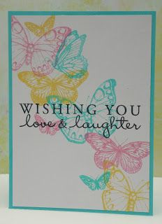 Hero Arts butterflies card *Use Stampin Up Butterflies