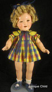 Shirley Temple Schoolgirl Dress | Doll Repair Doll Clothing ...