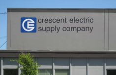 Crescent Electric Exterior Sign #CustomSigns #BusinessSigns #OutdoorSigns #Signs #PaintedSigns