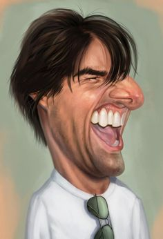 Funny drawings of famous faces and caricature art of celebrities Tom Cruise, Funny Caricatures, Celebrity Caricatures, Cartoon Faces, Funny Faces, Funny Tom, Caricature Drawing, Caricature Artist, Funny Drawings