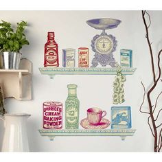 retro kitchen wall stickers thisnext kitchena vinyl sticker contemporary