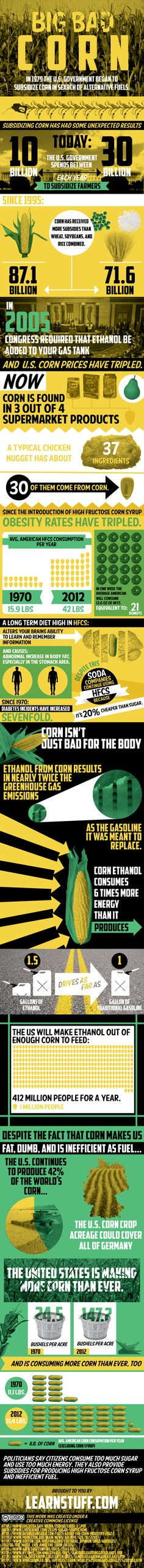 Is corn the big evil? Are we children of the corn? Scary infographic from @Robin Elton @FitFluential LLC