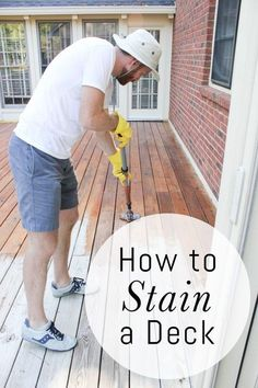 How to Stain a Deck: a Step by Step Tutorial
