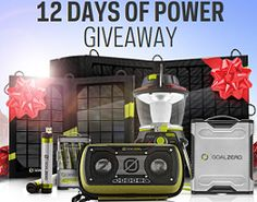 FREE Goal Zero 12 Days of Power Giveaway!