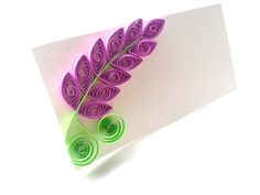 Lilac flower place cards.    These tent/folded cards measure 2 x 4 inch and will look beautiful on your wedding reception or elegant dinner