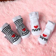 Mode Schönen Weichen Baby Socken Streifen Neugeborenes Kleinkind Säuglingssocken Socke kinder Mädchen Jungen Baumwolle Liebe Mama Papa Socken Für 0 ~ 6 monate