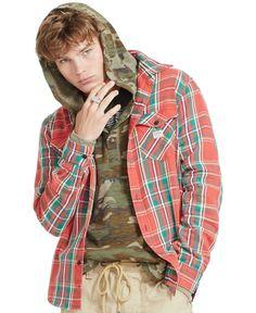 Denim & Supply Ralph Lauren Ward Plaid Cotton Twill Shirt