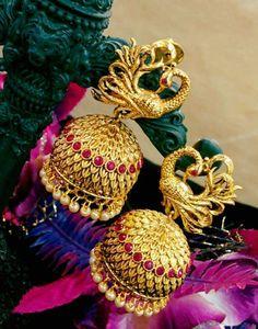 Exclusive Temple Earrings | Buy Online Temple Jumkas | South Indian Temple Jewellery | Elegant Fashion Wear