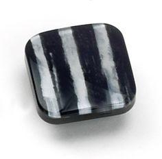Laurey Cabinet Knobs, 1 3/8″ Square Knob- Striped Zebra