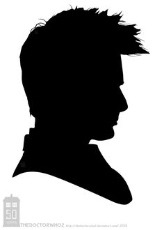 David Tennant Silhouette - 2005-2010 by theDoctorWHO2.deviantart.com on @deviantART
