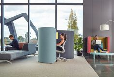 Focus booths transform under-utilised in-between spaces into desirable destinations Study Nook, Destinations, Spaces, Modern, Beautiful, Design, Trendy Tree, Travel Destinations