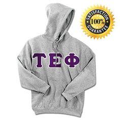 Tau Epsilon Phi Fraternity Standard Lettered Hoody | Something Greek | #TauEpsilonPhi #fraternitymerchandise #standards #somethinggreek