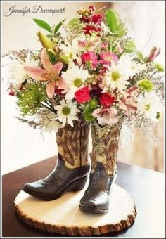 Bridal Shower Centerpiece Ideas for a country wedding by Linda Dee