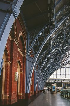 Pre-Modernism: St Pancras Station, London, England, Shed by WH Barlow + RM Ordish, begun London England, Oxford England, Cornwall England, Yorkshire England, Yorkshire Dales, Level Design, Station To Station, Trains, London Photography