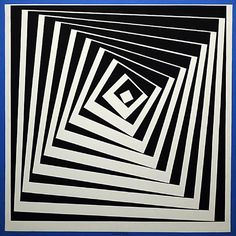 Vásárhelyi Győző, known as Victor Vasarely was an artist who is often regarded as the father of Op Art. He began to study medicine in Hungary, but left the race after two years. Wikipedia--Slide sequence alt to willowisp -conc. Victor Vasarely, Grafik Art, Optical Illusion Quilts, Illusion Kunst, Fractal, Geometric Art, Geometric Tattoo Design, Art Plastique, Art Lessons