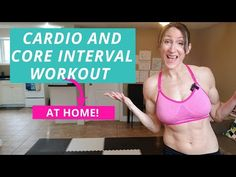 Join me for this at home cardio and core interval workout! Using HIIT, we get in our at home cardio and our at home abs. Burn fat, build your core! Cardio At Home, At Home Abs, At Home Workouts, Hiit, Fat Burning, Burns, Core, Home Workouts, Home Fitness