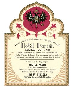 Ceremony & Reception at Hotel Parisi. All our guests stay over-night!  Designed by Vanessa Van Wieren of Alchemy Fine Events