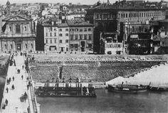 Foto storiche di Roma - Porto di Ripetta Anno: 1887