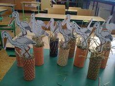 Golya Spring Crafts For Kids, Fall Crafts, Diy For Kids, Diy And Crafts, Paper Crafts, Arts And Crafts, Bird Crafts, Animal Crafts, Daycare Crafts