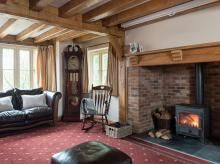 Feature Project - Border Oak - oak framed houses, oak framed garages and structures. Clearview Stoves, Border Oak, Oak Framed Buildings, Oak Frame House, Garages, Layout, Interior Design, Gallery, Projects