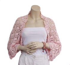 Easy Crochet Shrug | Shrug bolero,Hand crochet Shrug Bolero, Crocheted Shrug ,Cotton shurg ...