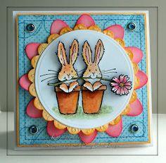 A very cheery springtime card, nice color choices.