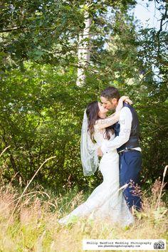 #Bride & #Groom in long grass @HydeEstate #Sussex