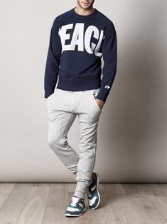 I need this whole look. Acne long johns, dolce sneakers and I love the Peace top.