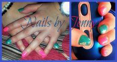 Nails gel summer petrol pink!