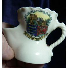 Arcadian Crested China 'A&S' - shaving mug - Kintbury Crest