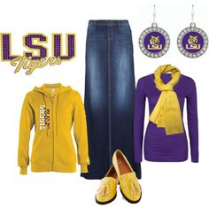 LSU Game day casual outfit