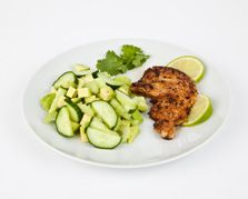 Cajun turkey steak with avocado salad - 330 calories and keeps you in ketosis
