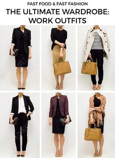 61 best Ideas for how to dress for work business casual capsule wardrobe Business Casual Outfits For Women, Stylish Work Outfits, Business Outfits, Office Outfits, Work Fashion, Fashion Outfits, Womens Fashion, Capsule Wardrobe Work, Wardrobe Basics