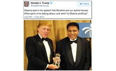 """""""Obama said in his speech that Muslims are our sports heroes. Is Obama profiling? Greatest Presidents, Obama, Donald Trump, Hero, Image, Movies, Movie Posters, Donald Tramp, Films"""