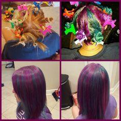 Pinwheel hair dye technique