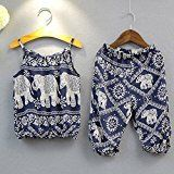 2Pcs/Set Kids Baby Girls Jumpsuit Romper, Elephant Straps Tops+Harem Pants Outfit – Adulting Is Hard. We Can Help.