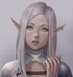 Elf Portrait by NibelArt on DeviantArt Fantasy Character Design, Character Design Inspiration, Character Art, Elf Characters, Fantasy Characters, Fantasy Women, Fantasy Girl, Weiblicher Elf, Elf Drawings