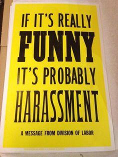 HR poster, ha!