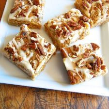 SALTY BUTTERSCOTCH PECAN BARS  Chewy like a brownie, but flavored like your favorite blondie bar.