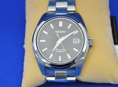 Seiko Men's Japanese-Automatic Watch with Stainless-Steel Strap, Silver, 20 (Model: Best Looking Watches, Cool Watches, Seiko Men, Seiko Watches, Beautiful Watches, Automatic Watch, Quartz Watch, Omega Watch, Stainless Steel
