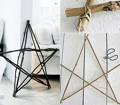 How can I make a star out of wood? tinker double star from branches as creative rustic decoration Source by alexknezevic Christmas Star Decorations, Christmas Diy, Wooden Stars, Traditional Decor, Christmas Traditions, Decorative Items, Rustic Decor, Wood Projects, Sweet Home