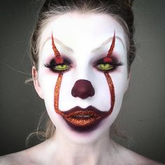 Pennywise the Clown Scary Halloween Makeup