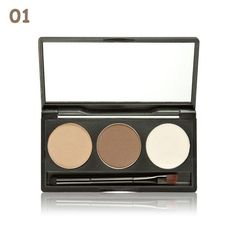 MELOISION Brand Mineral Eyebrow Cake Powder Makeup Palette Waterproof Long Lasting Eye Shadow Eye Brow Gel Set Kit Cosmetics